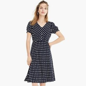 J. Crew short-sleeve dress in polka-dot print NWT